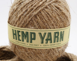 Hemp Yarn, Natural, Unpolished, 350ft,  1mm, Organic Yarn,  Knitting Supplies, Eco Friendly, Biodegradable