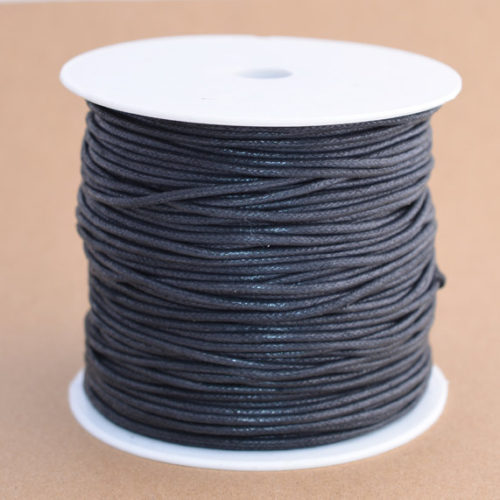 Black  Cord 2mm, Waxed Cotton  Cord,  100 Meters, Necklace  Cord, Waxed Cord, Jewellery  Cord,