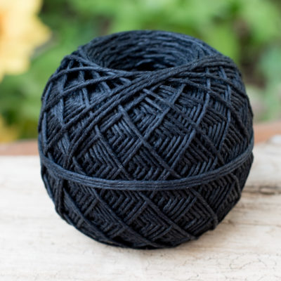 hemp yarn, black