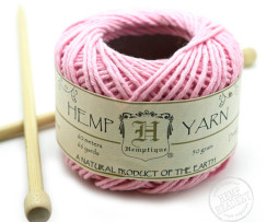 pink cotton hemp yarn