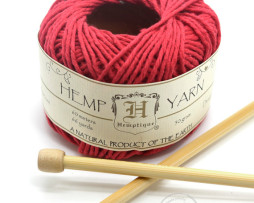 red hemp yarn