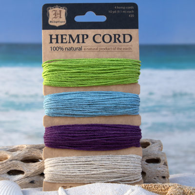 Hemp Twine 1mm, 20lb, Shades of Spring Bloom