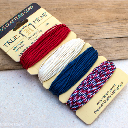 red white blue hemp twine