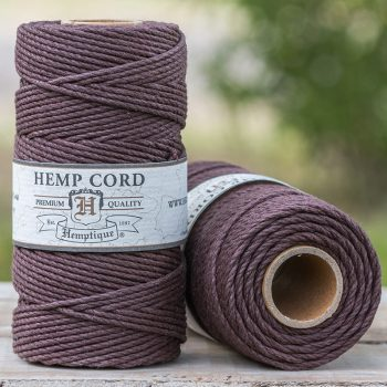 brown hemp cord 2mm