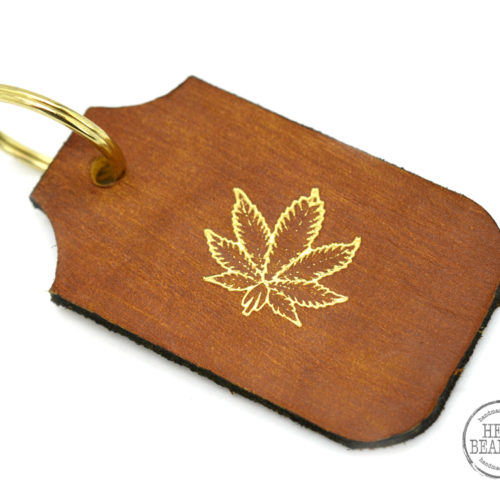 cannabis leaf key chain