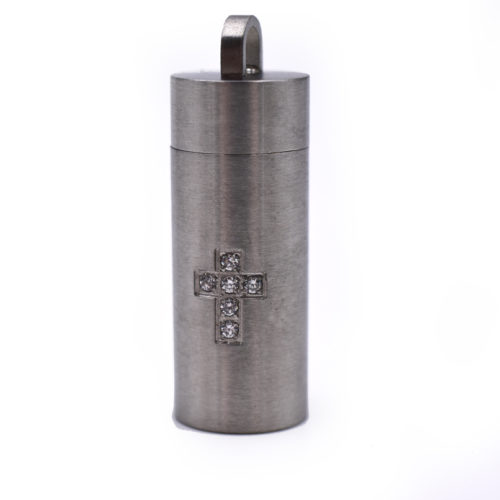 stainless steel pendant, cross, chamber