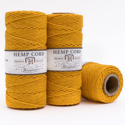 hemp twine, gold cord 1mm