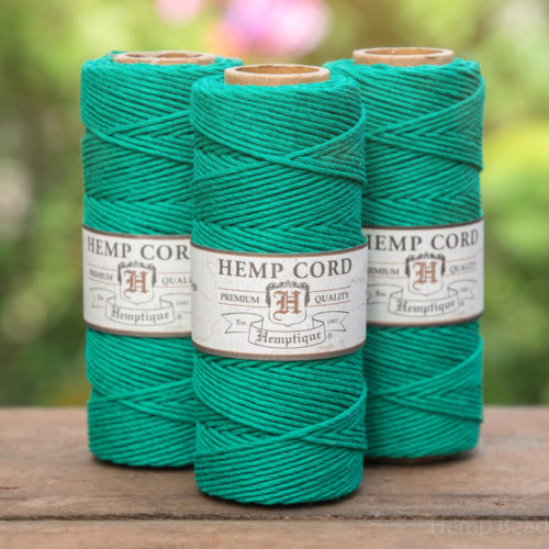 hemp cord 1mm, green hemp twine