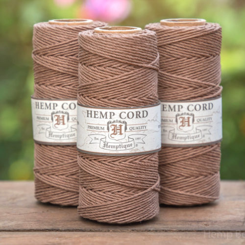 light brown hemp cord 1mm