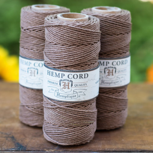 brown hemp cord, 1mm, 205 feet