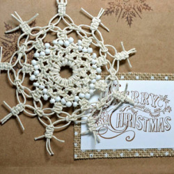 Gift Wrapping with Hemp Snowflakes