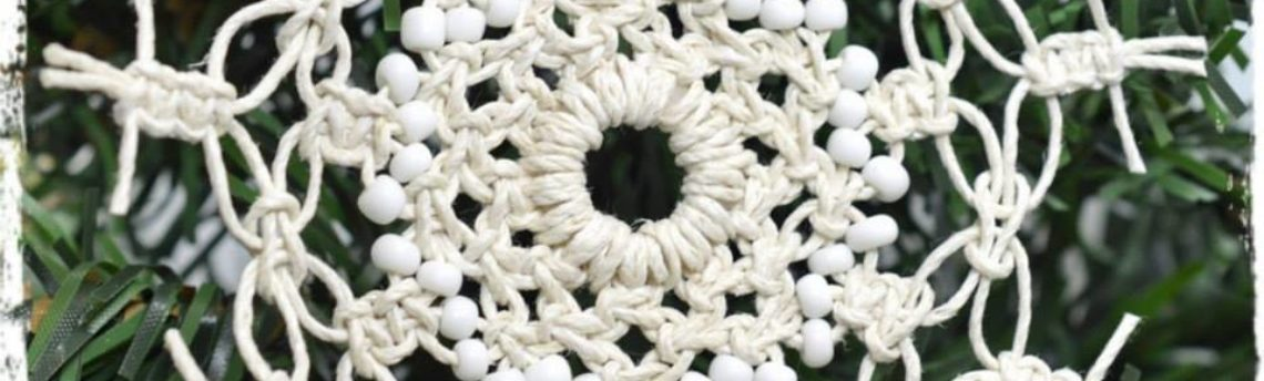 How To Make A Hemp Macrame Snowflake