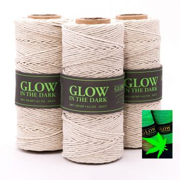 glow in the dark hemp cord