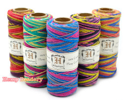 multi colored hemp cord