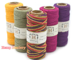 colored hemp cord