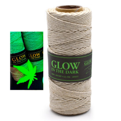 luminous hemp cord, glow in the dark, macrame cord