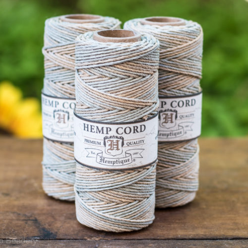 sandalwood hemp cord, 1mm, 205 feet
