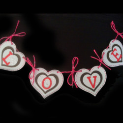 LOVE and hearts banner
