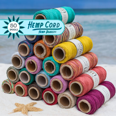 hemp craft supplies, hemp jewelry cord, colored hemp twine