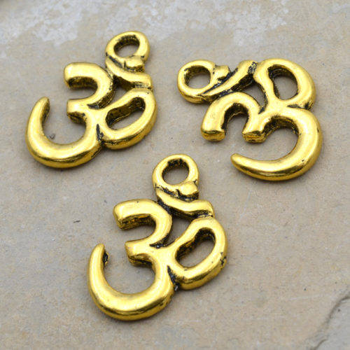 gold ohm charms