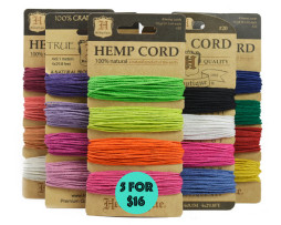 colored hemp cords