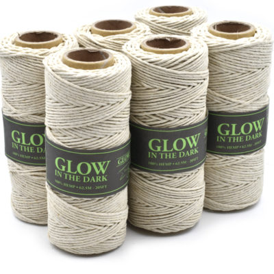 glow in the dark hemp cord, hemp twine, uv jewelry cord