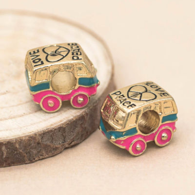 peace bus beads, European beads