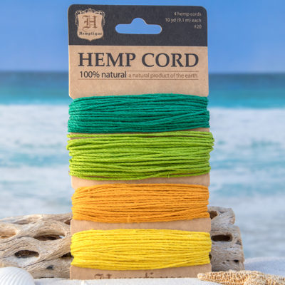 Colored Hemp Cord, Island Colors, 1mm, 20lb