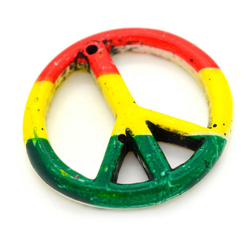 rasta peace pendants