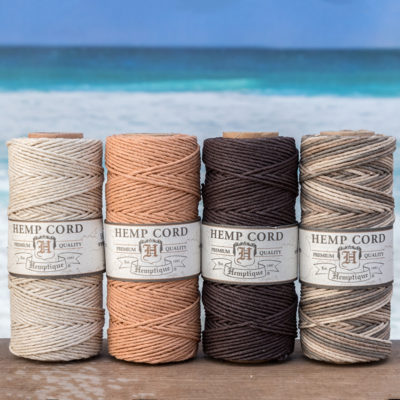 natural hemp cord pack, hempbeadery