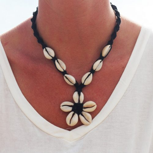 cowrie shell hemp necklace