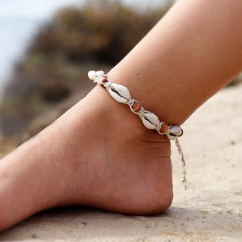 wood bead hemp anklet