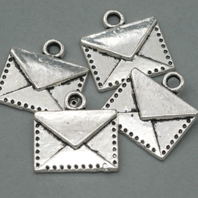 metal envelope charms