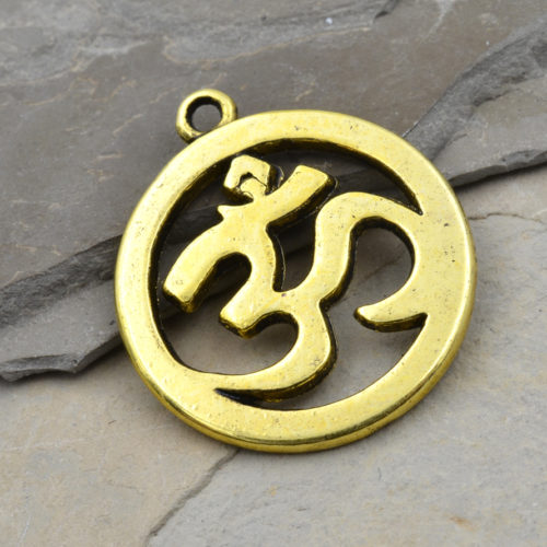 gold ohm pendant