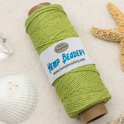 Hemp Cord, 1mm, Approx 198 feet, Lime Green