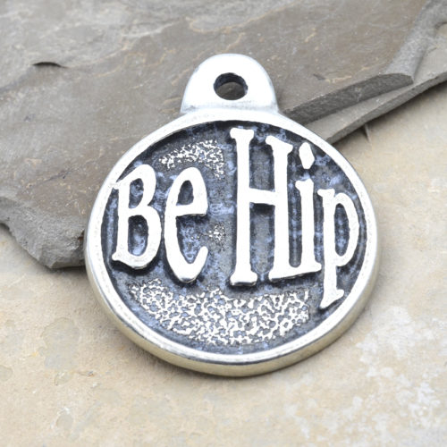 be hip pewter pendant
