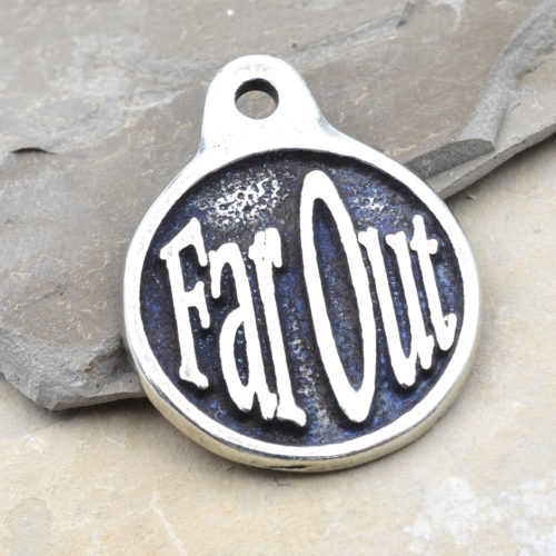 far out pewter pendant