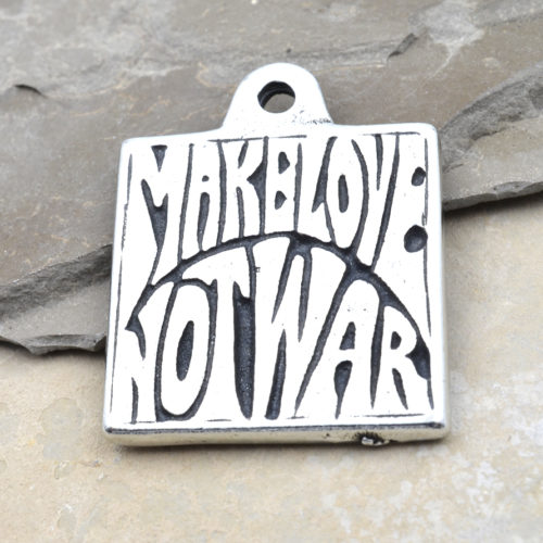 make love not war pendant