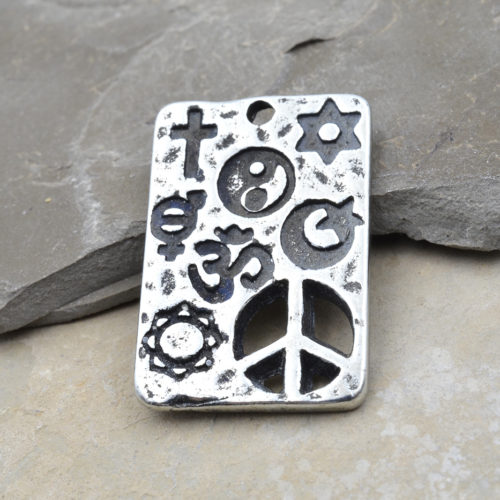 co exist pewter pendant