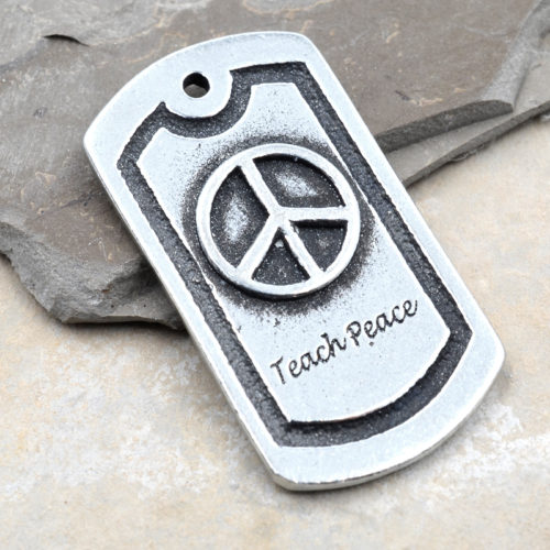 teach peace pendant