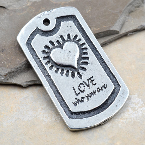 love who you are pendant
