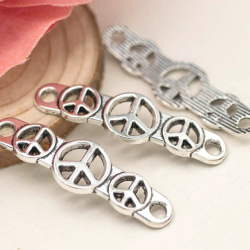 peace charms, jewelry connectors