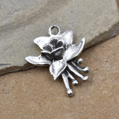 colorado columbine charm, 925 sterling silver