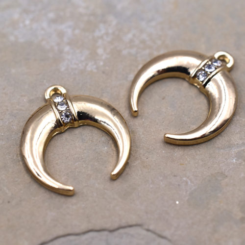 free spirit charms, double horn