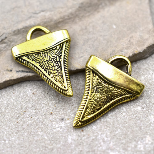 gold shark tooth charm