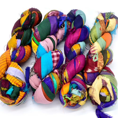 silk sari ribbon yarn