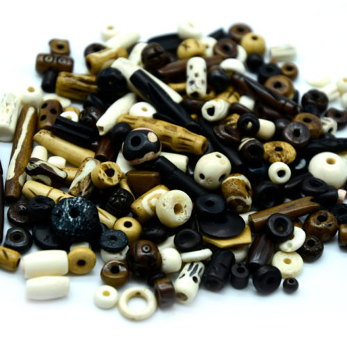 Bone Beads,   50pcs, Mixed Sizes,  Tubes, Round Bone  Beads, Cow Bone BN88
