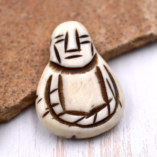 Bone  Pendant,   Buddha,  1pc, 30mm x 22mm, Bone Buddha  Beads - P69