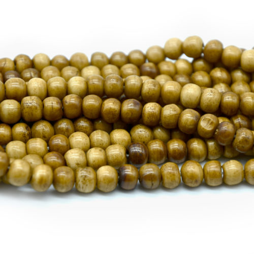 Brown Bone Beads, 10mm, 50pc Strand, Round Bone Beads, Spacer Beads -BN96