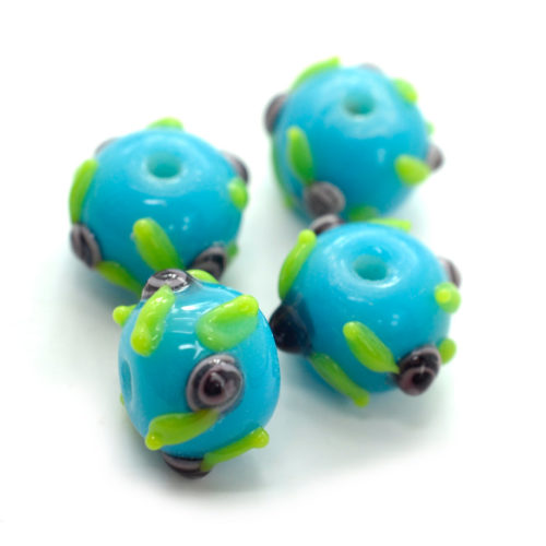 Glass  Beads, 8pcs, 15mm, 2mm Hole,   Focal Beads -B354